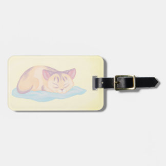 Dreaming Kitten Luggage Tag