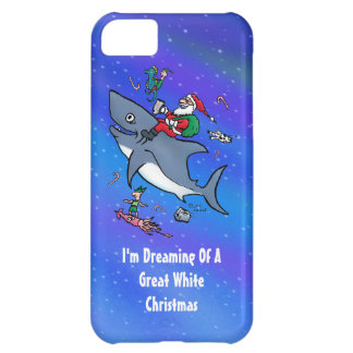 Dreaming Of A Great White Shark Christmas iPhone 5C Case