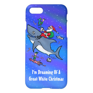 Dreaming Of A Great White Shark Funny Christmas iPhone 7 Case