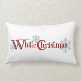 Dreaming of a White Christmas Distressed Lumbar Pillow