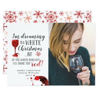 Dreaming Of A White Christmas Photo Cards