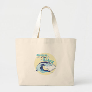 Dreaming Of Beach Large Tote Bag