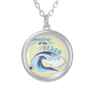 Dreaming Of Beach Silver Plated Necklace