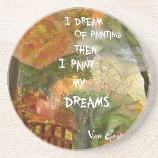Dreaming of grey and orange roses coaster
