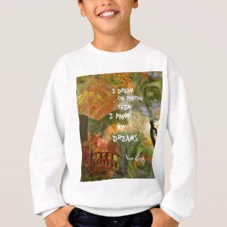 Dreaming of grey and orange roses sweatshirt