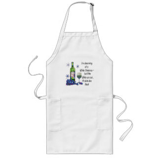 Dreaming of White Christmas, Funny Wine Art Gifts Long Apron