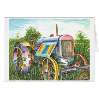 Dreaming Old Tractor Card