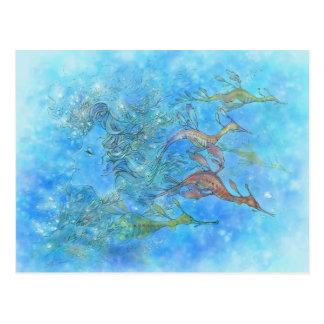 Dreaming On Aquamarine Tides Postcard