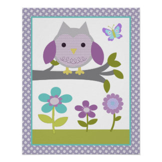 Dreamland Owl Poster Nursery Art Print 3 of 4
