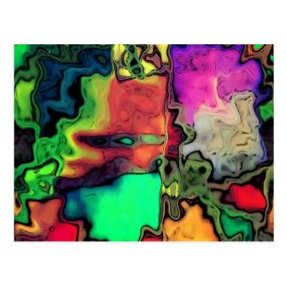 dreamlike fluids colorful postcard