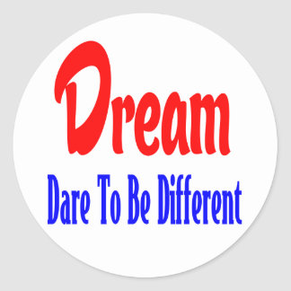 Dreams, Attitude. Success Goals Motivational Quote Classic Round Sticker