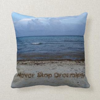 Dreams by The Ocean Throw Pillow