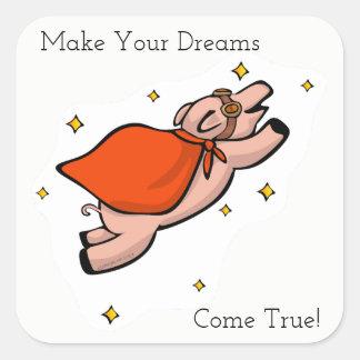 Dreams Flying Pig Sticker