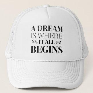 Dreams, Goals Success Attitude Motivational Quote Trucker Hat