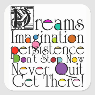 Dreams Imagination Inspirational Sticker
