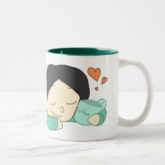 Dreams of Coffee Two-Tone Coffee Mug