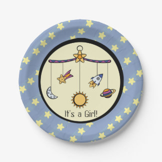 Dreams of Space Mobile Baby Shower Paper Plates