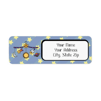 Dreams of Space Mobile Return Address Label