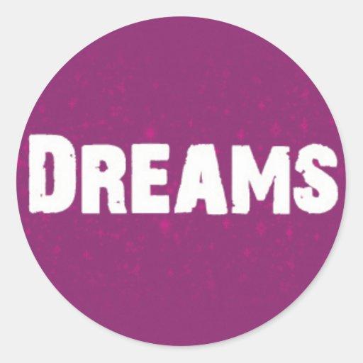 Dreams on Purple Sticker