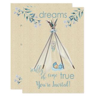 Dreams Really Do Come True Boho DreamCatcher Tipi Card