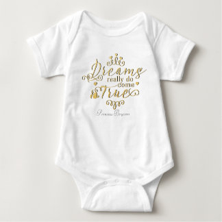Dreams Really Do Come True Personalized One Piece Baby Bodysuit