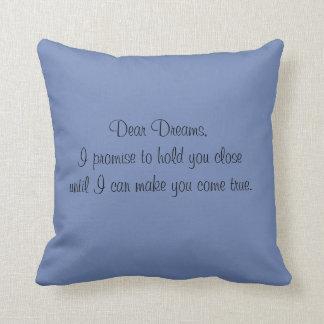 Dreams....  throw pillow