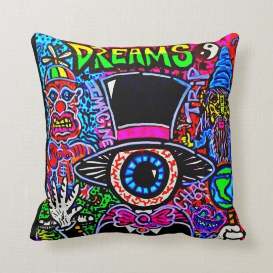 """DREAMS"" THROW PILLOW by CUSTOM CHAOS!"
