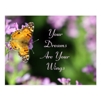 Dreams & Wings Butterfly Photography Postcard