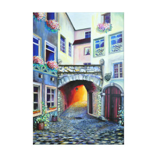 Dreamscape Luxembourg bohemian city Canvas Print