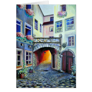 Dreamscape Luxembourg bohemian city Card
