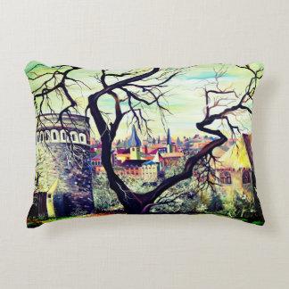 Dreamscape Luxembourg bohemian city Decorative Pillow