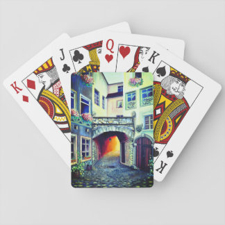 Dreamscape Luxembourg bohemian city Playing Cards
