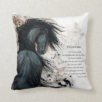 DreamWalker Horse Pillow Art Print by Bihrle