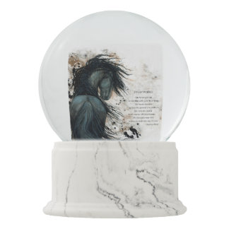 DreamWalker Horse SnowGlobe With Poem by Bihrle