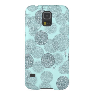 Dreamy Blue Glitter Galaxy S5 Cover