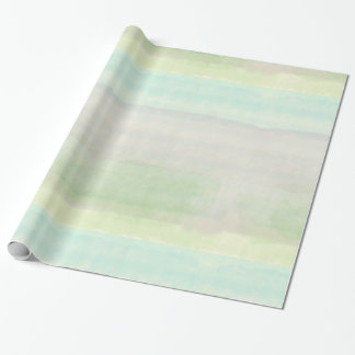 Dreamy Blue Green Watercolor Wrapping Paper