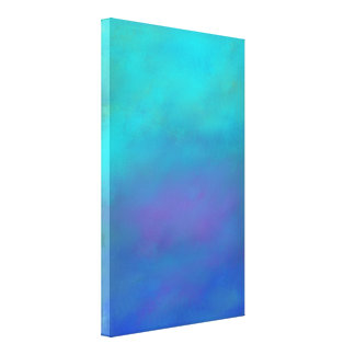 Dreamy Blues Abstract Design Gallery Wrap Canvas
