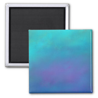 Dreamy Blues Abstract Design 2 Inch Square Magnet