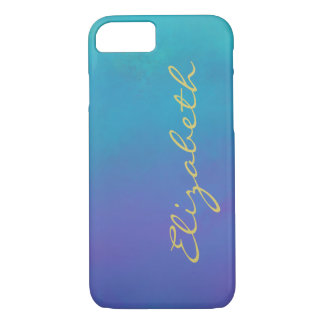 Dreamy Blues Abstract Design Personalized iPhone 8/7 Case