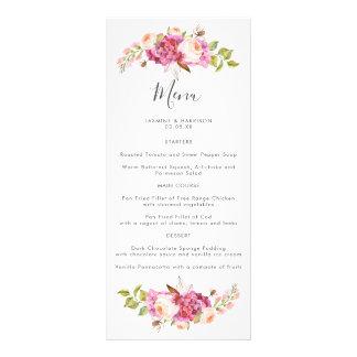 Dreamy Bouquet Wedding Menu