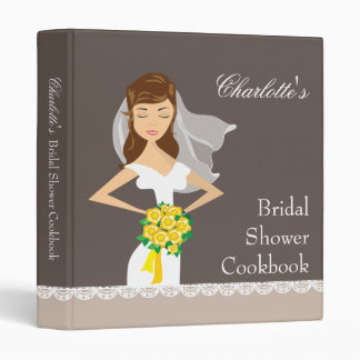 Dreamy Bride Bridal Shower Cookbook Recipe Binder