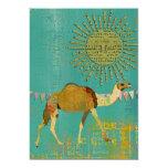 Dreamy Camel Baby Shower Sunshine Teal Invitation