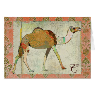 Dreamy Camel Monogram Notecard Note Card