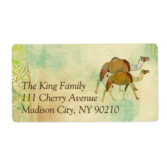 Dreamy Camels Address   Label