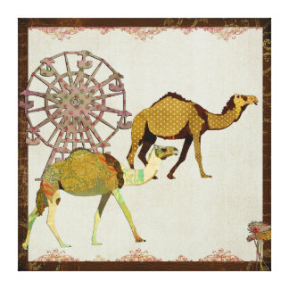 Dreamy Camels Carnival Canvas Canvas Print