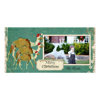 Dreamy Camels Christmas Photo Card