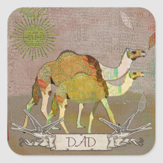Dreamy Camels Dad Sticker