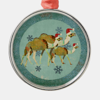 Dreamy Camels Snowflakes Ornament