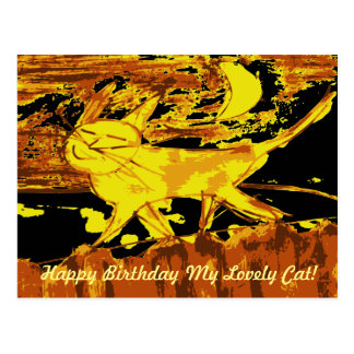 Dreamy Cat Happy Birthday Cards