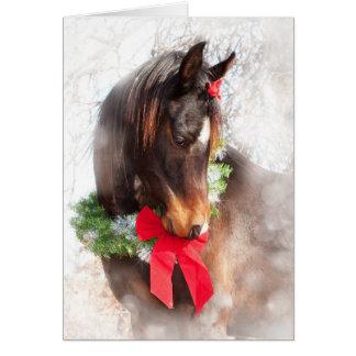 Dreamy Christmas Horse Card